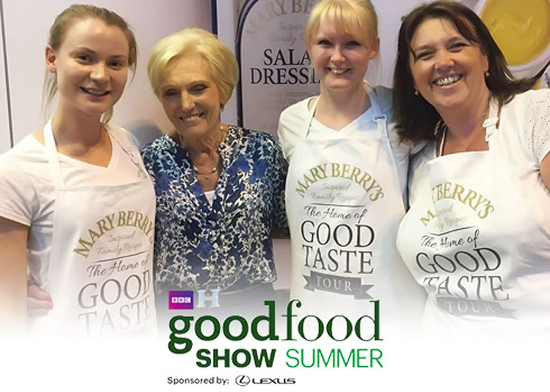 Mary Berry's Foods BBC Good Food Show Summer Ticket Giveaway