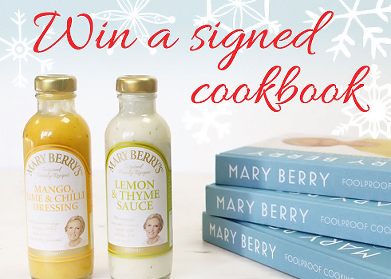 Mary Berry's Foods Festive Signed Cookbook Giveaway December 2018